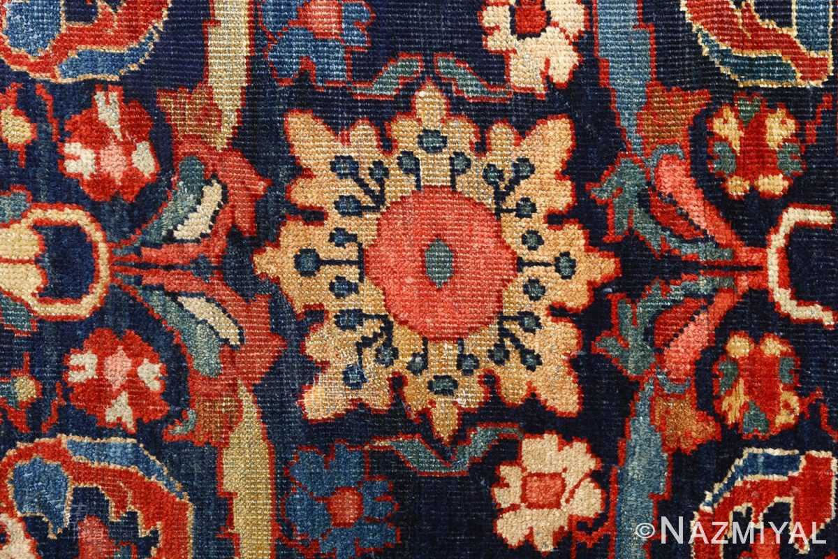 antique navy malayer persian rug 51096 yellow Nazmiyal
