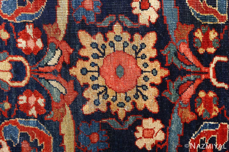 antique navy malayer persian rug 51096 yellow Nazmiyal