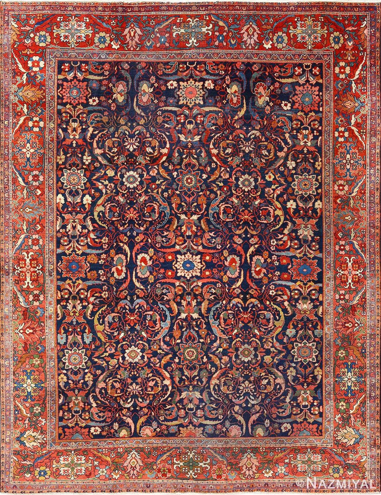 antique navy malayer persian rug 51096 Nazmiyal