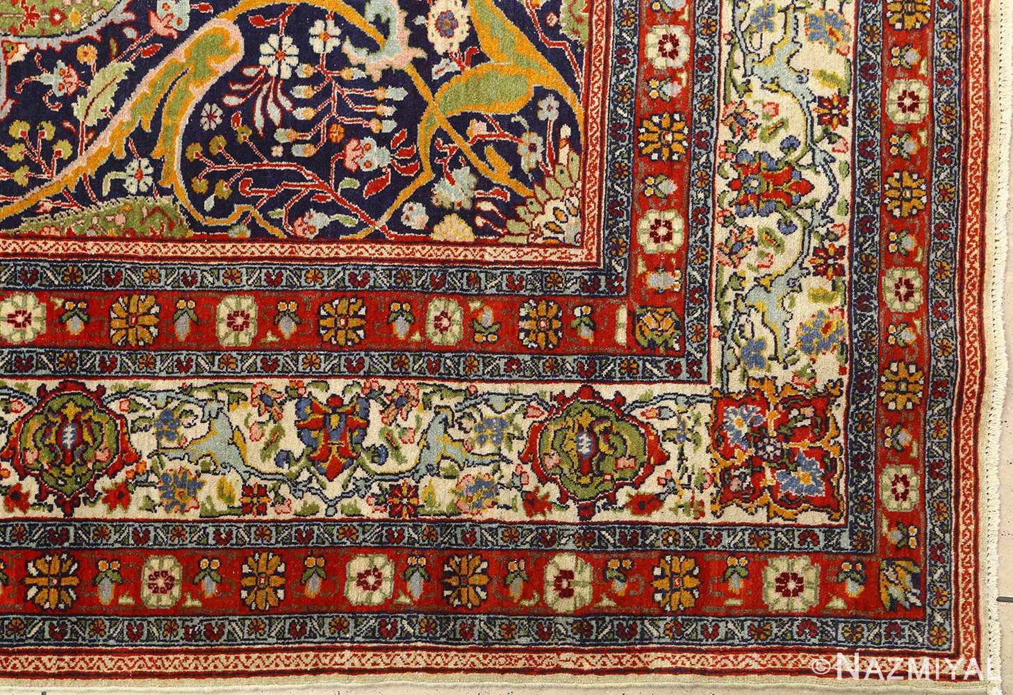 antique prayer design tabriz persian rug 51111 corner Nazmiyal