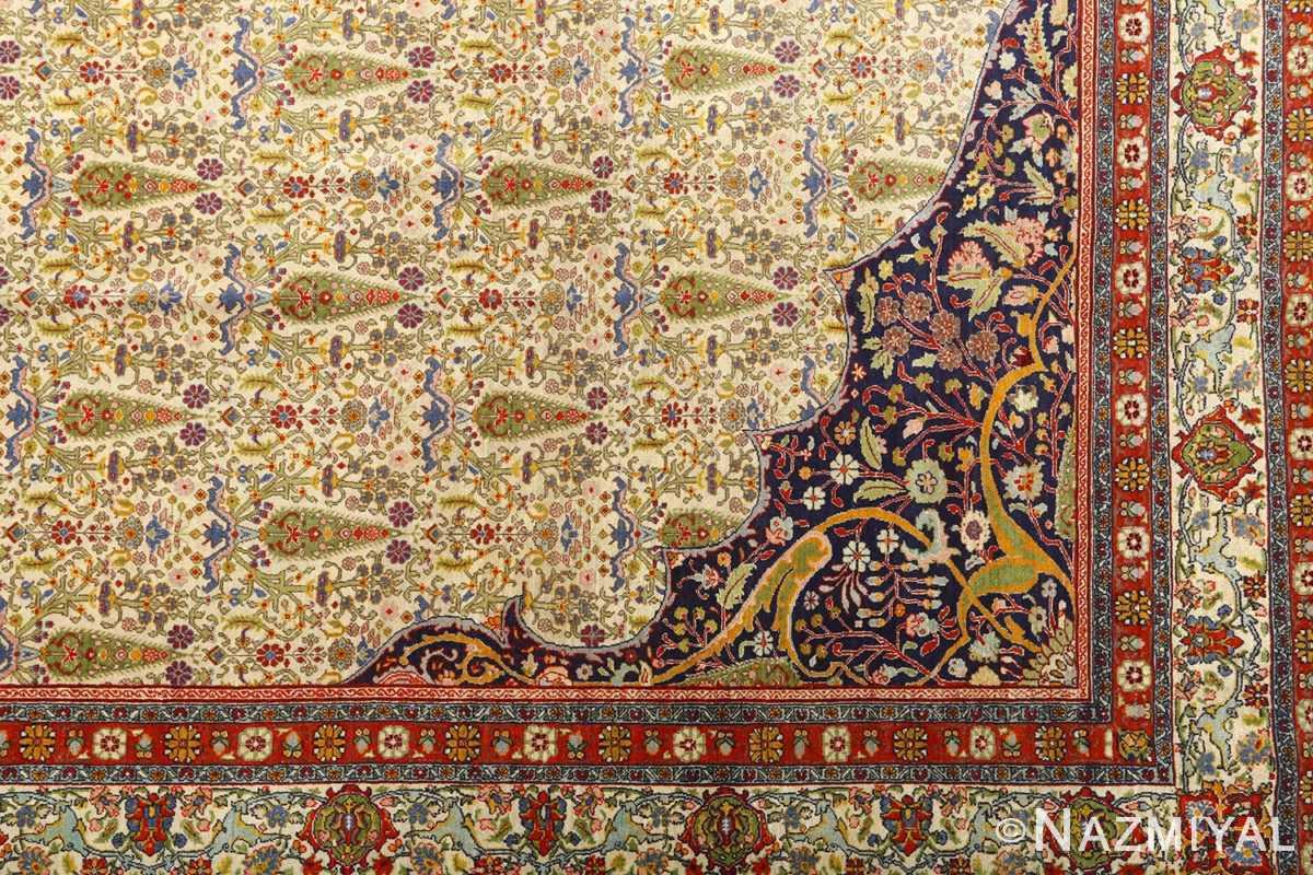 antique prayer design tabriz persian rug 51111 part Nazmiyal