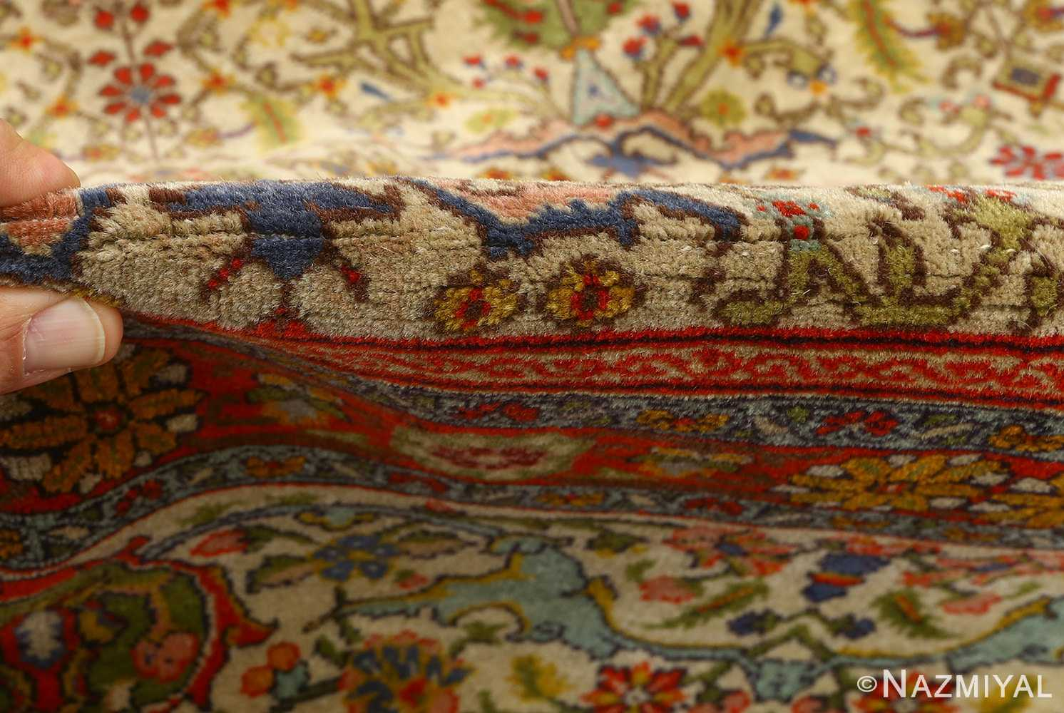 antique prayer design tabriz persian rug 51111 pile Nazmiyal