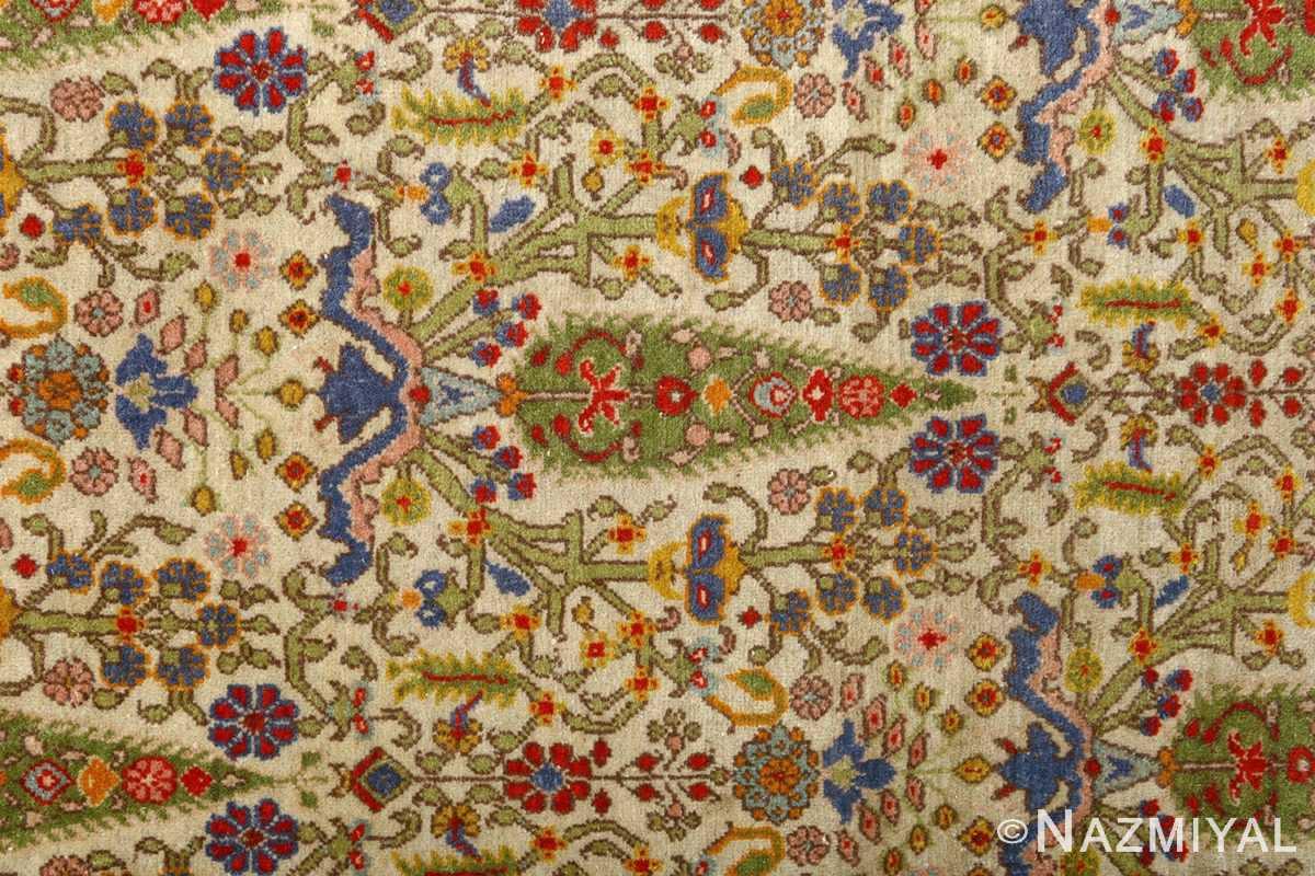 antique prayer design tabriz persian rug 51111 pine Nazmiyal