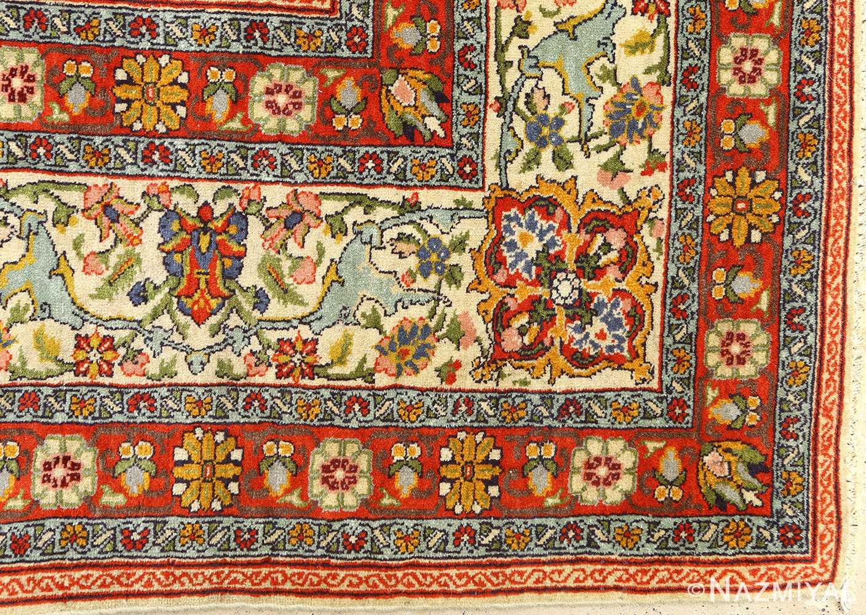 antique prayer design tabriz persian rug 51111 redflower Nazmiyal