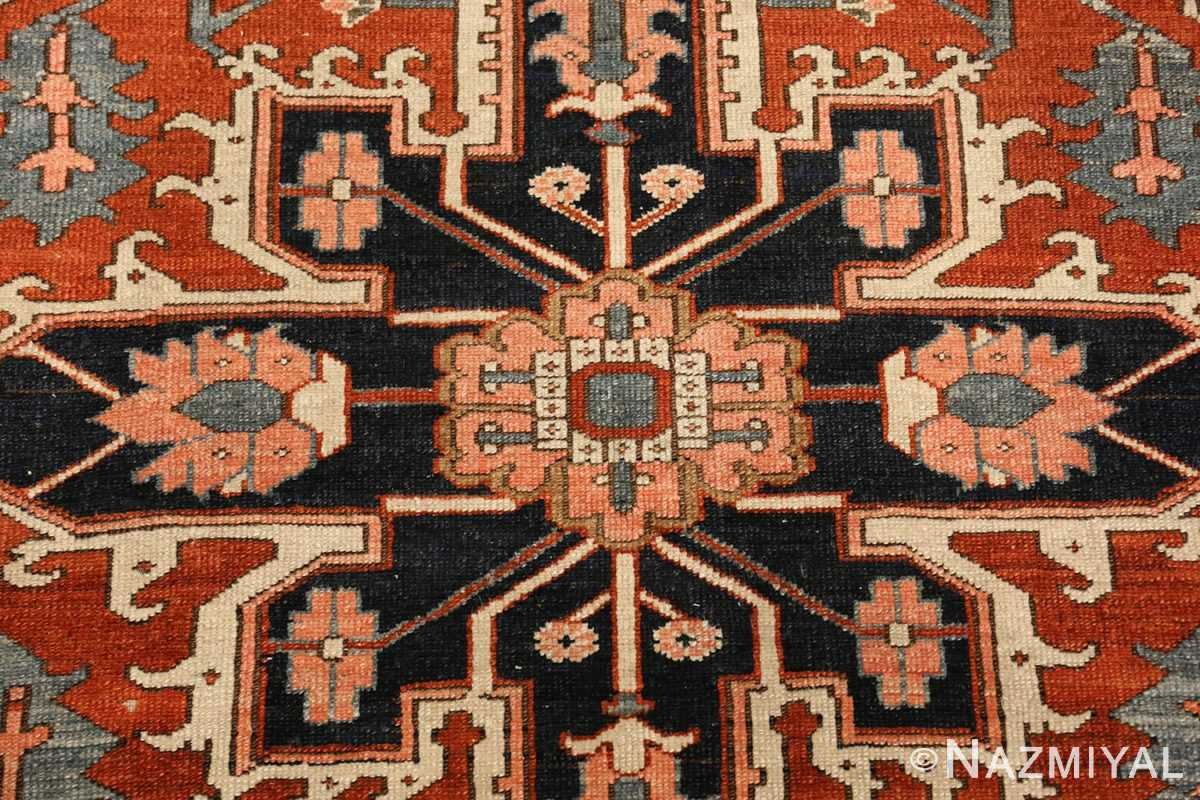 antique serapi persian rug 49273 center Nazmiyal
