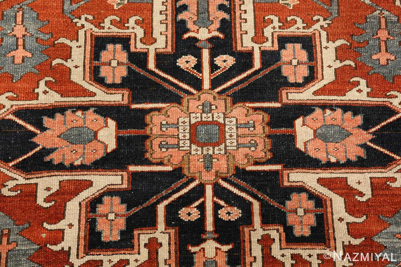 antique serapi persian rug 49273 center Nazmiyal