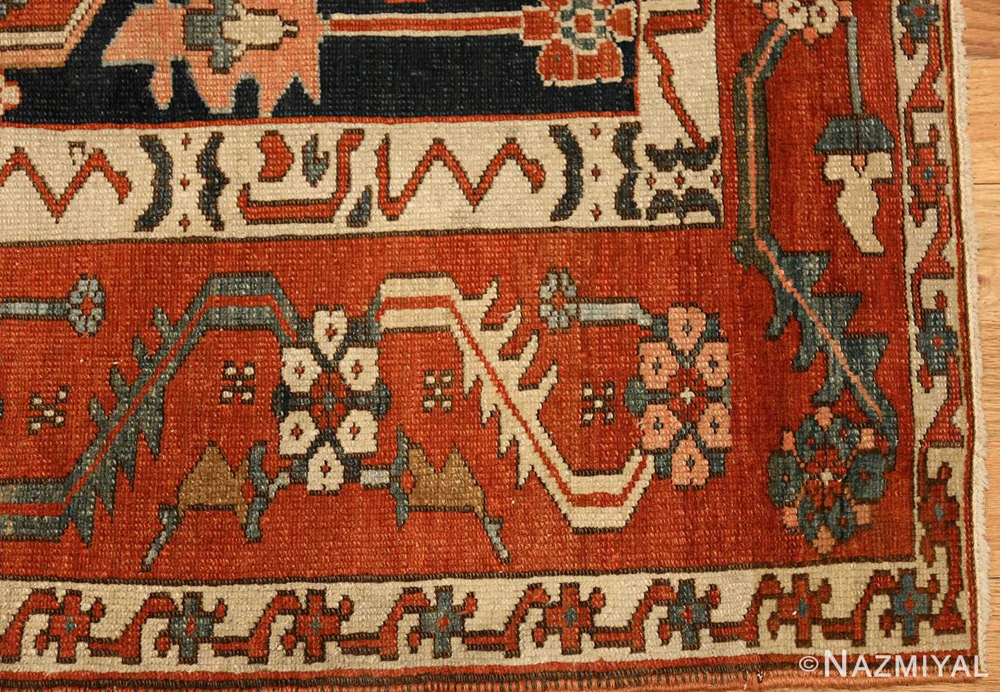 antique serapi persian rug 49273 corner Nazmiyal
