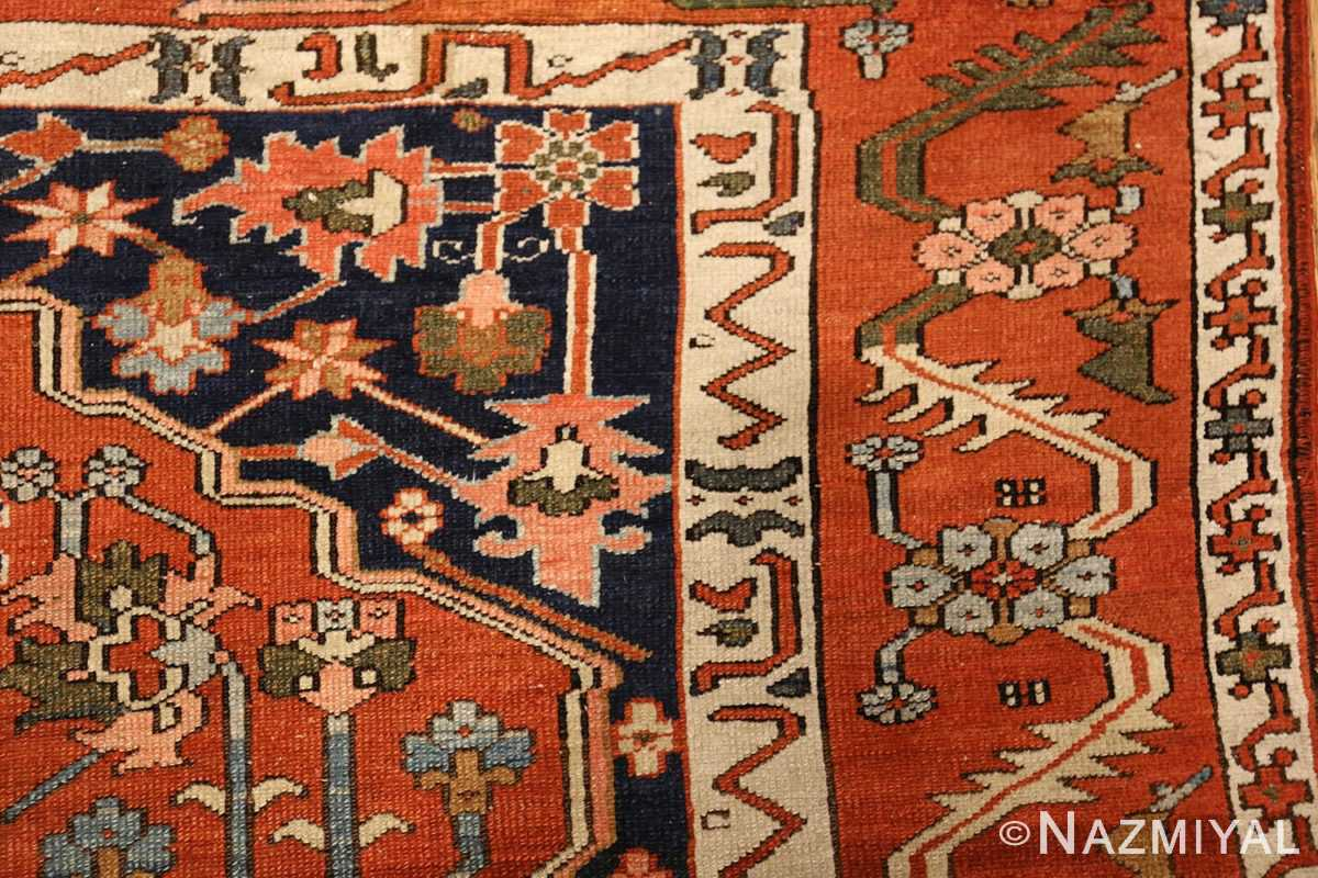 antique serapi persian rug 49273 design Nazmiyal
