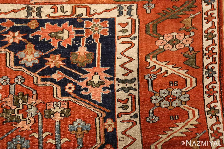 antique serapi persian rug 49273 design Nazmiyal