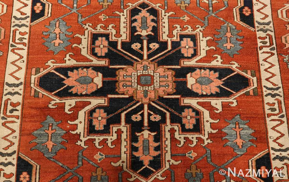 antique serapi persian rug 49273 medallion Nazmiyal