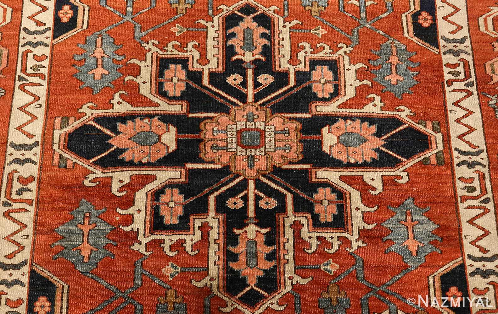 antique serapi persian rug 49273 medallion Nazmiyal