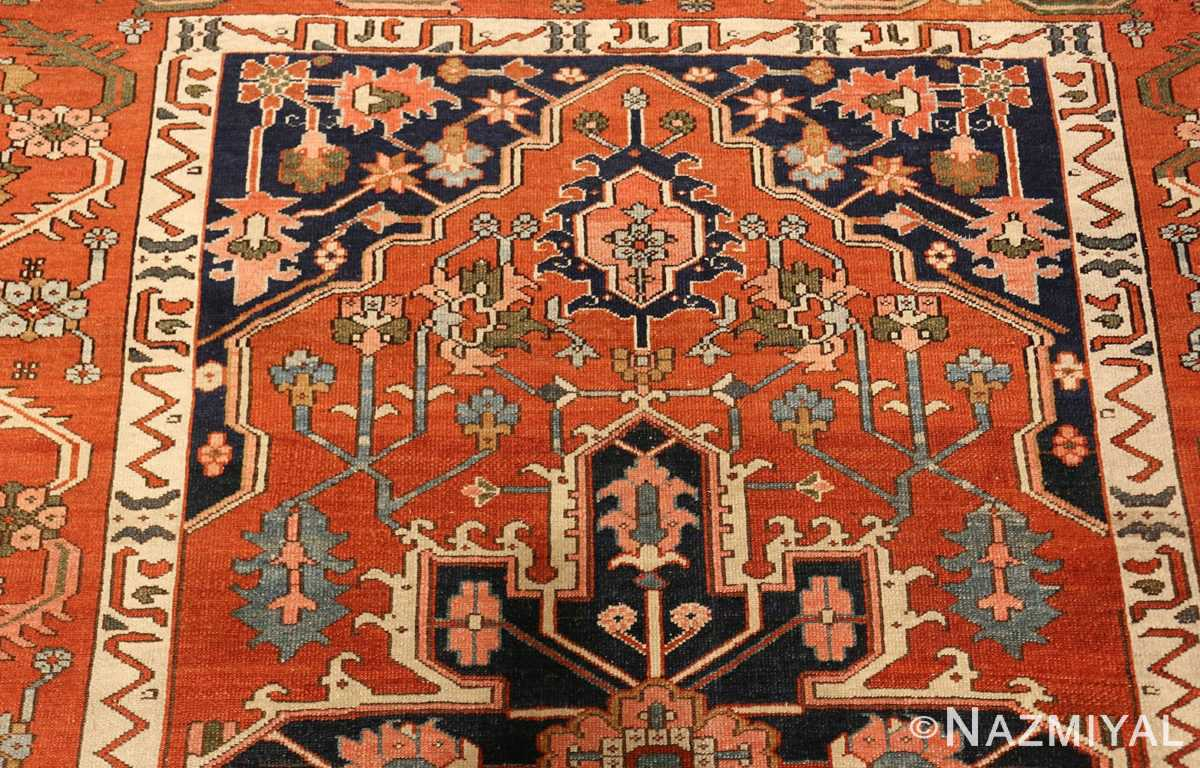 antique serapi persian rug 49273 top Nazmiyal