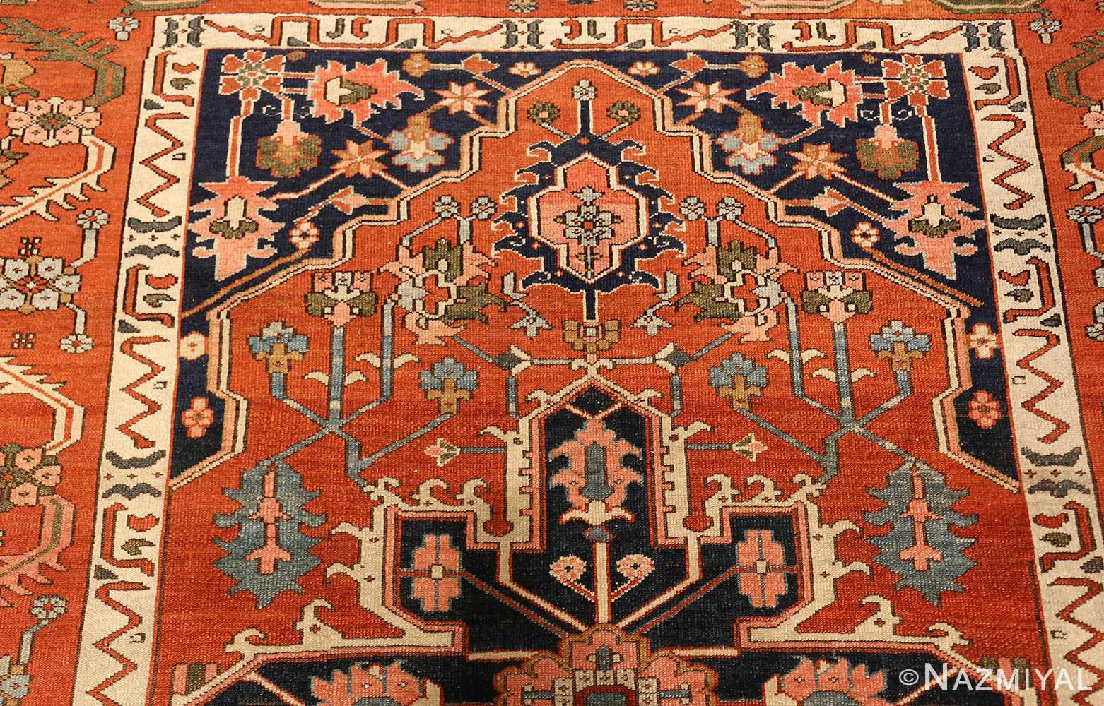 antique serapi persian rug 49273 top Nazmiyal