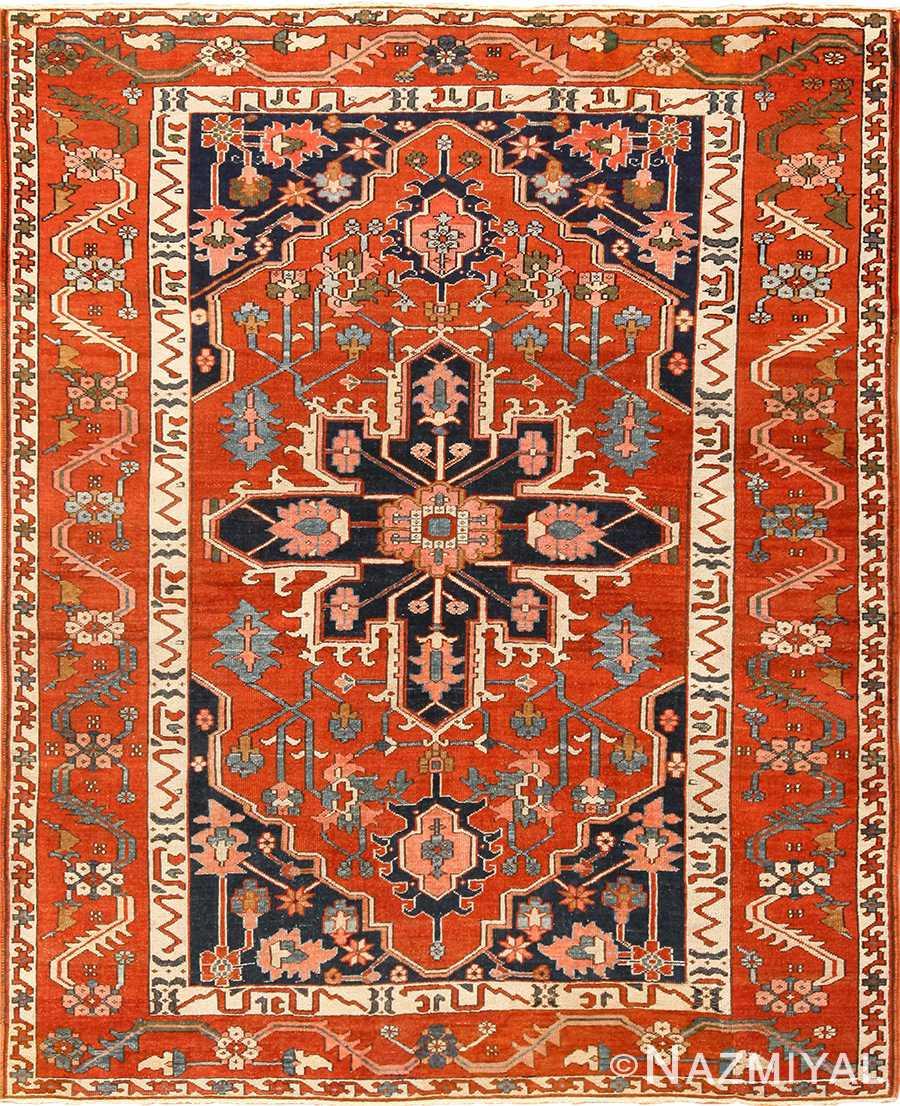 antique serapi persian rug 49273 Nazmiyal