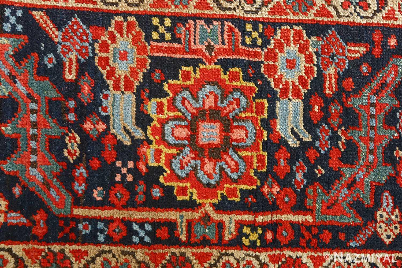 antique serapi persian rug 51093 border Nazmiyal