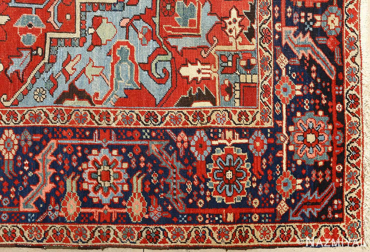 antique serapi persian rug 51093 corner Nazmiyal