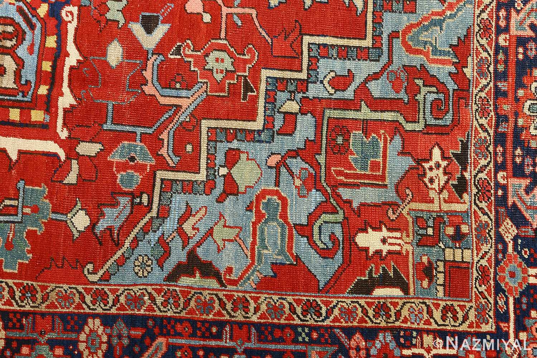 antique serapi persian rug 51093 design Nazmiyal
