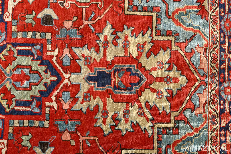 antique serapi persian rug 51093 top Nazmiyal