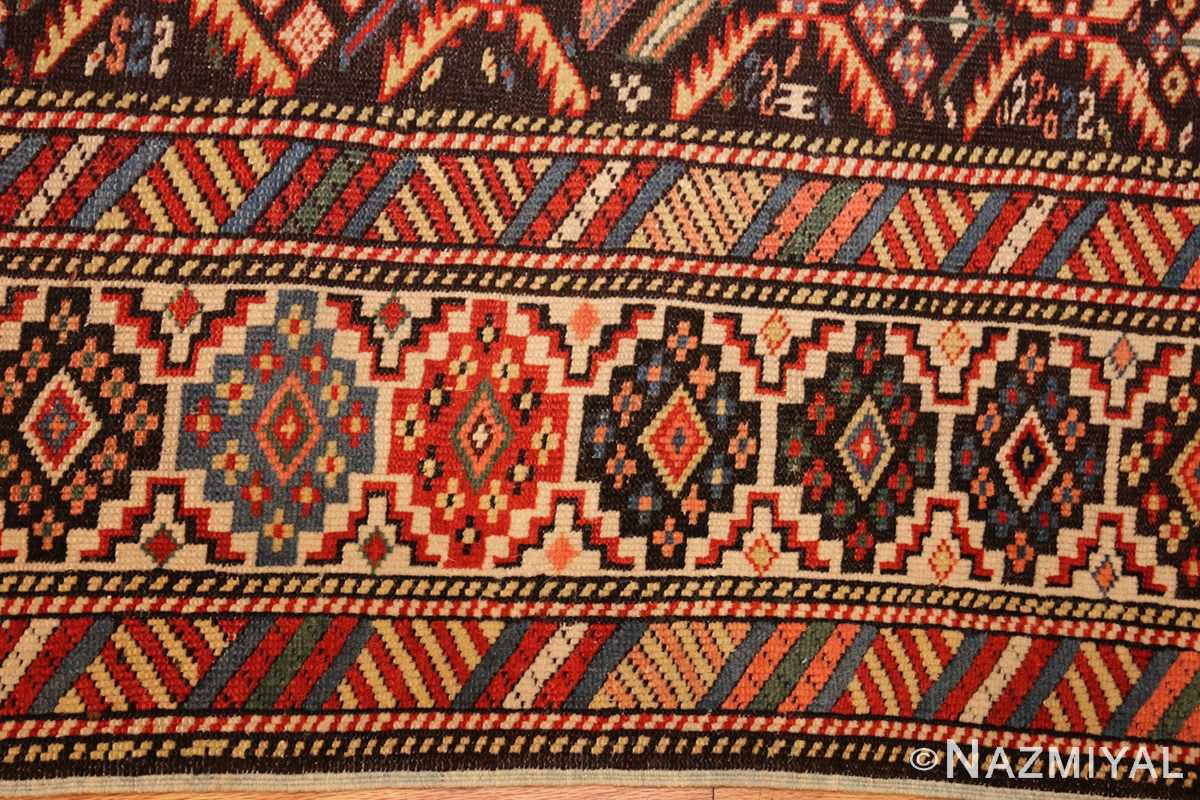 antique shirvan caucasian rug runner 49259 border Nazmiyal