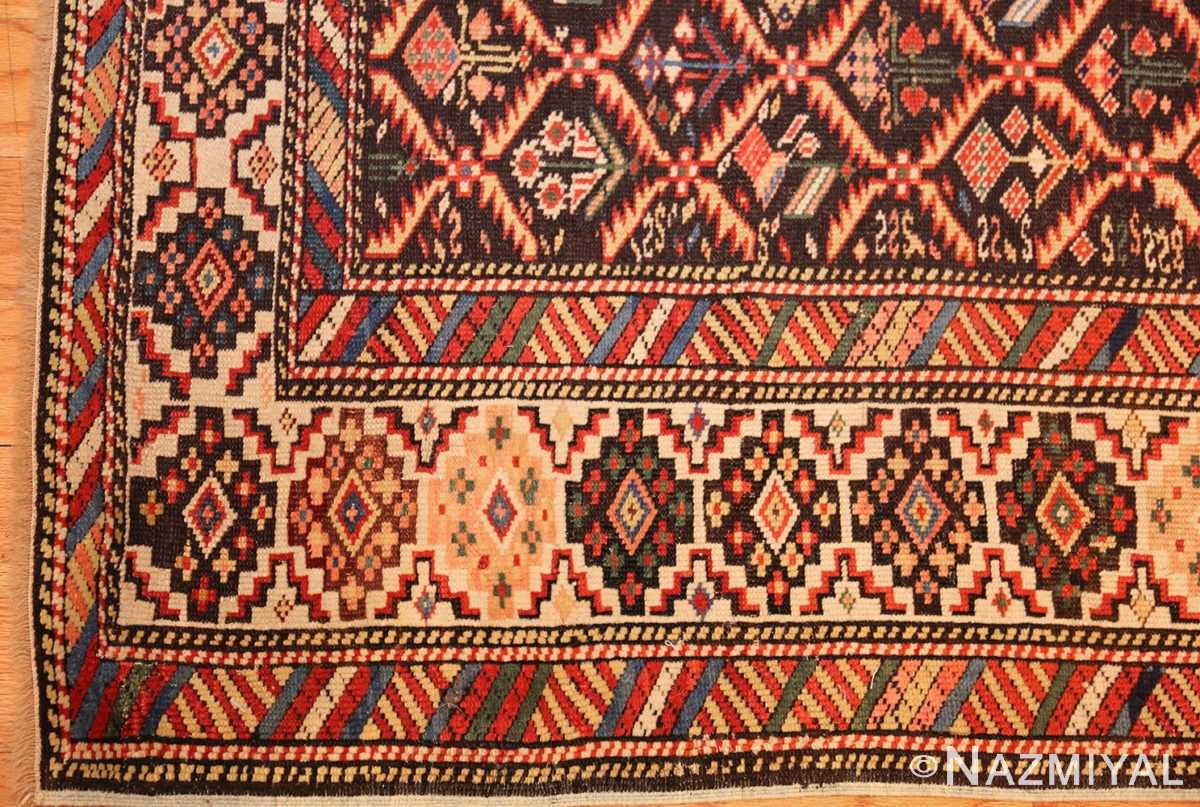 antique shirvan caucasian rug runner 49259 corner Nazmiyal