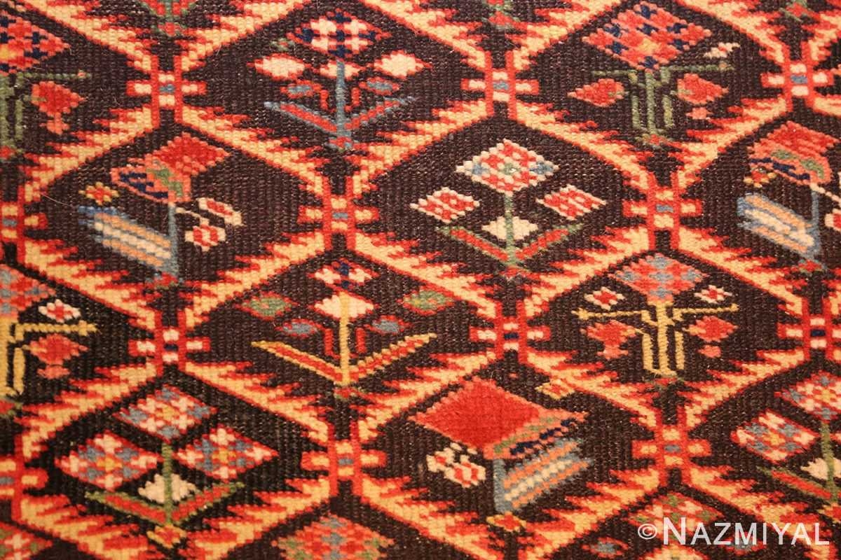 antique shirvan caucasian rug runner 49259 field Nazmiyal