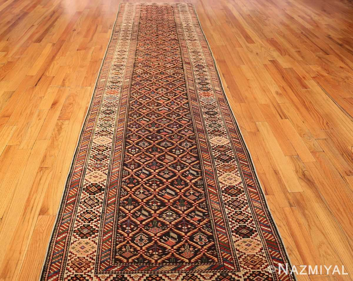 antique shirvan caucasian rug runner 49259 full Nazmiyal
