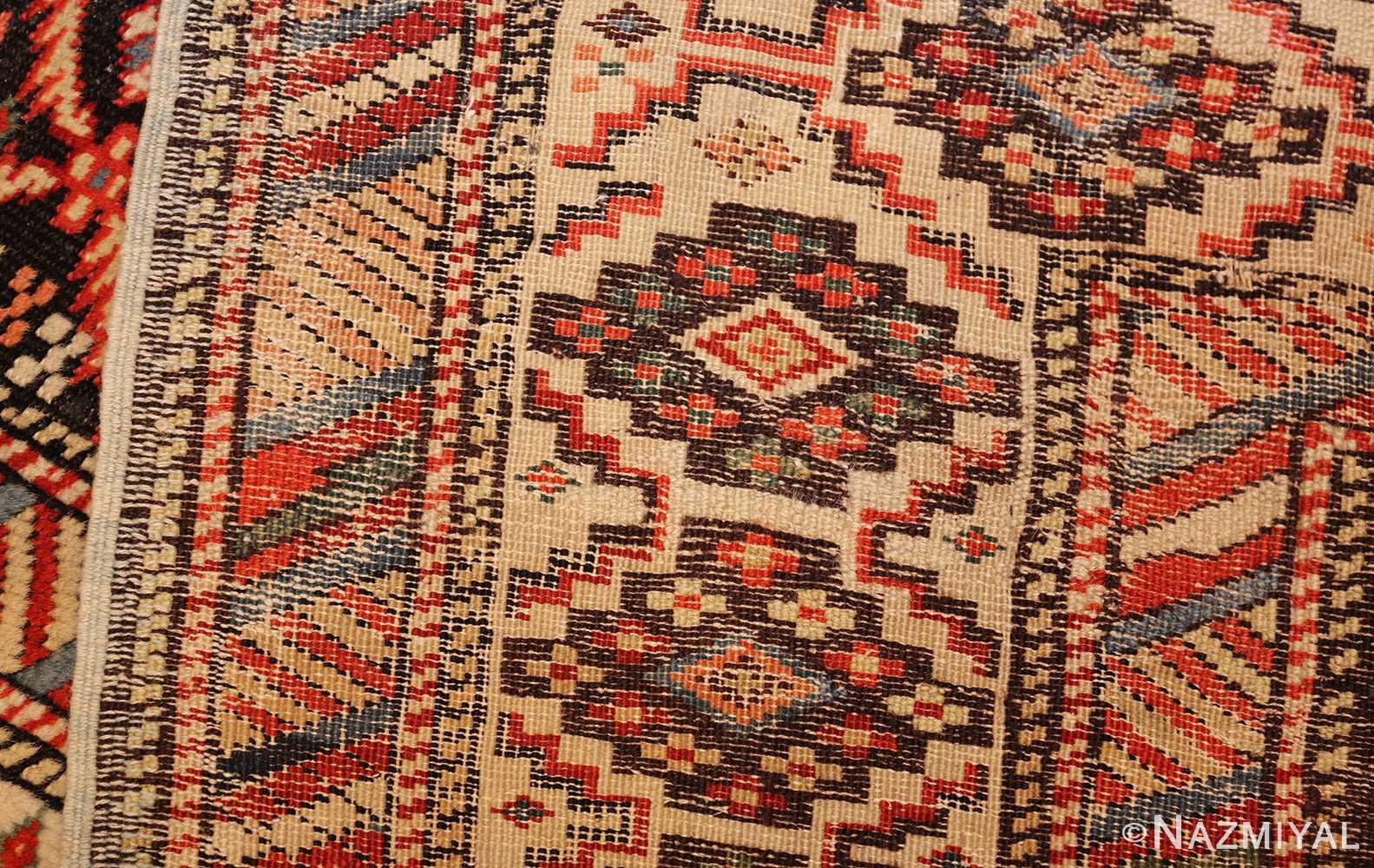 antique shirvan caucasian rug runner 49259 weave Nazmiyal