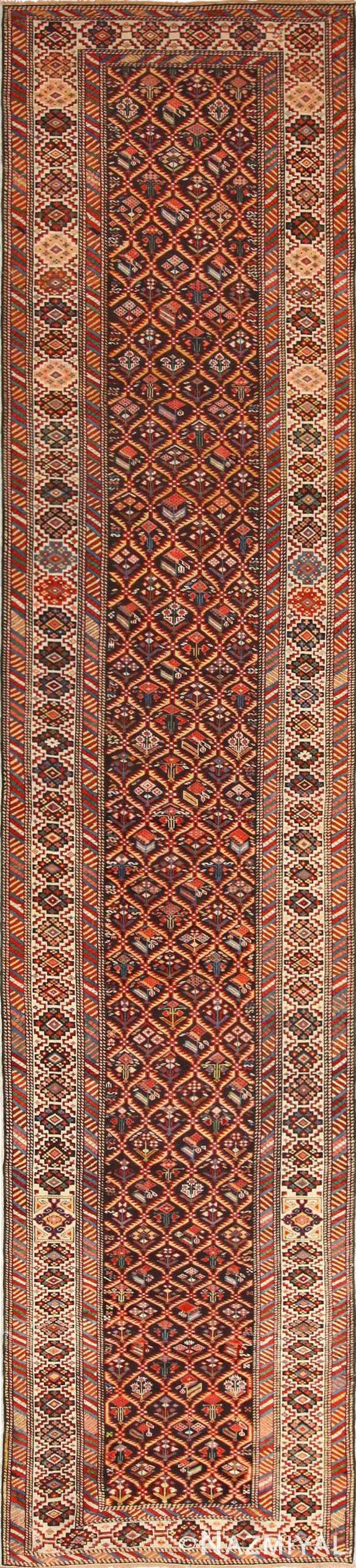 antique shirvan caucasian rug runner 49259 Nazmiyal