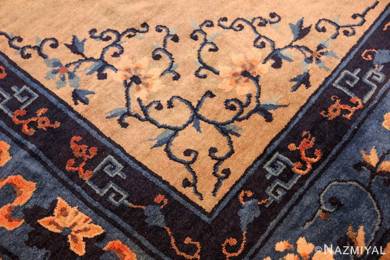 antique taupe background chinese rug 49235 design Nazmiyal