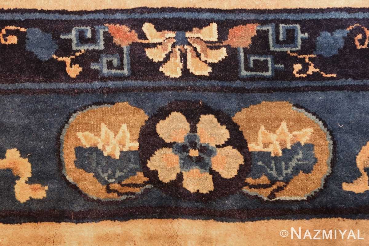 antique taupe background chinese rug 49235 flower Nazmiyal