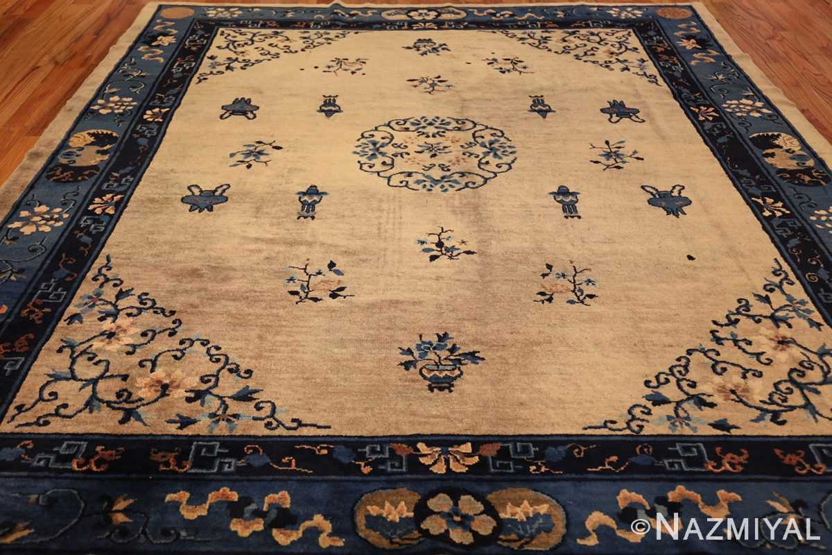 antique taupe background chinese rug 49235 full Nazmiyal