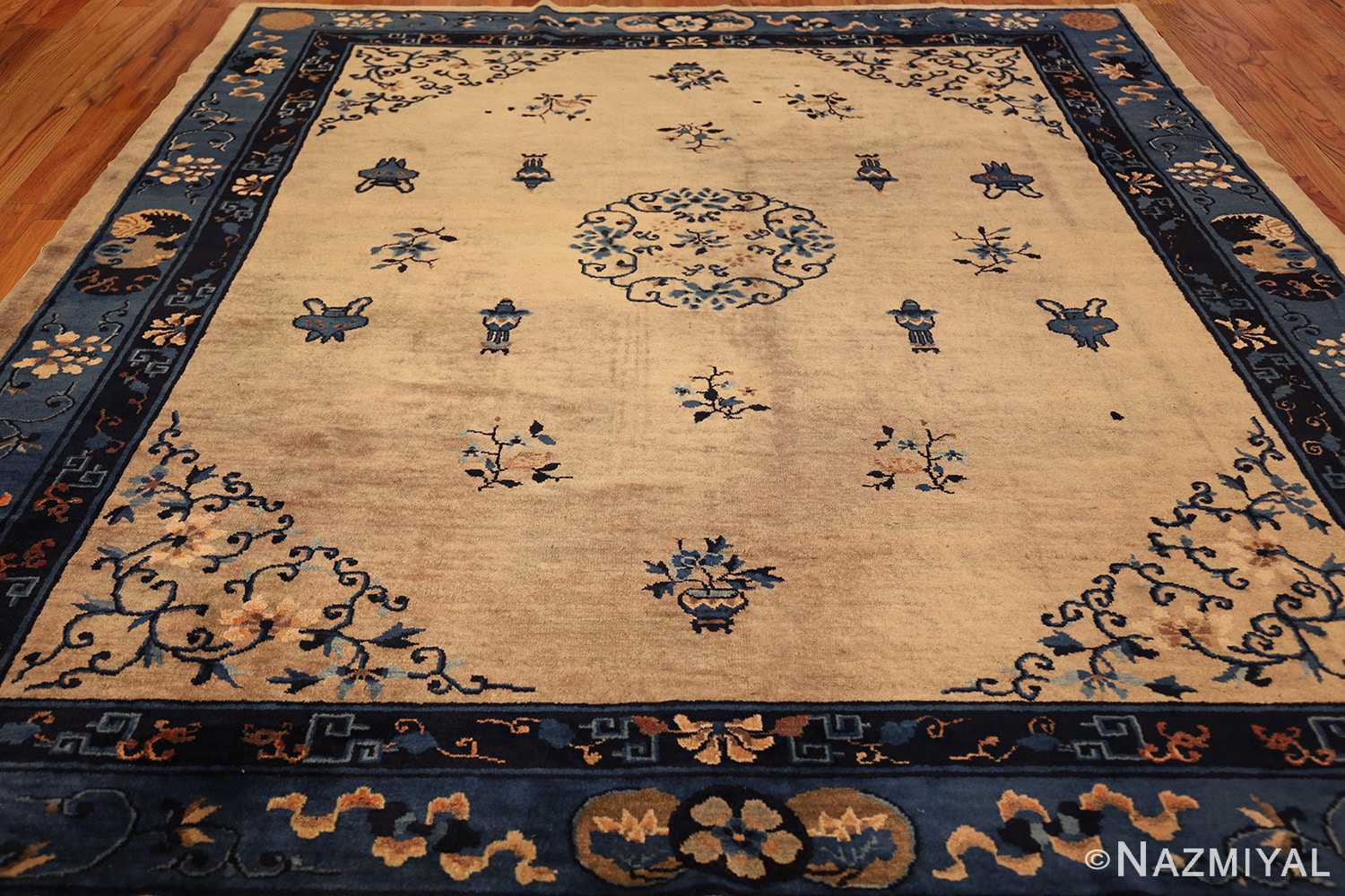 Beautiful Antique Taupe Background Chinese Rug 49235 By