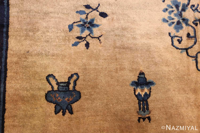 antique taupe background chinese rug 49235 lantern Nazmiyal
