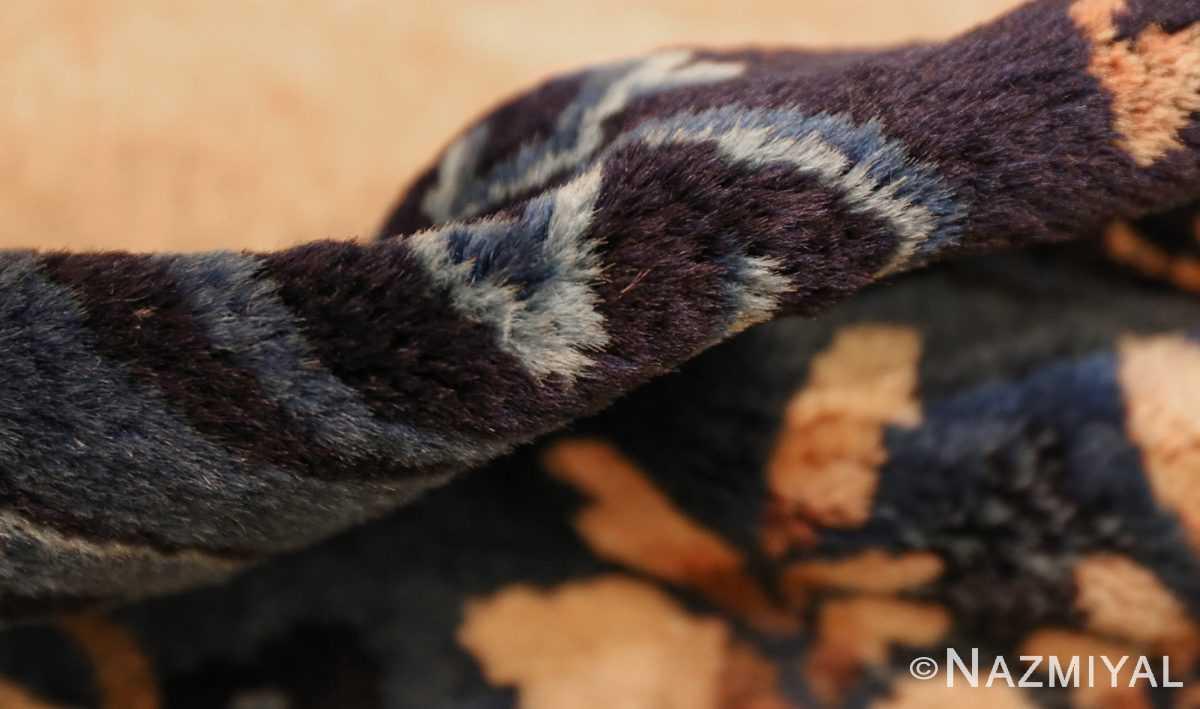 antique taupe background chinese rug 49235 pile Nazmiyal