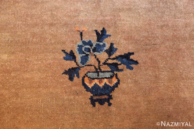 antique taupe background chinese rug 49235 vase Nazmiyal