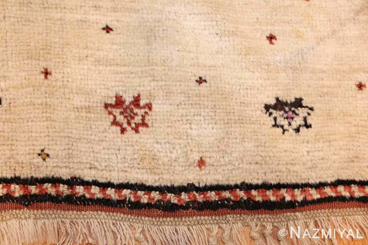 antique tribal persian gabbeh rug 49102 border Nazmiyal