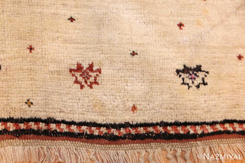 antique tribal persian gabbeh rug 49102 border Nazmiyal
