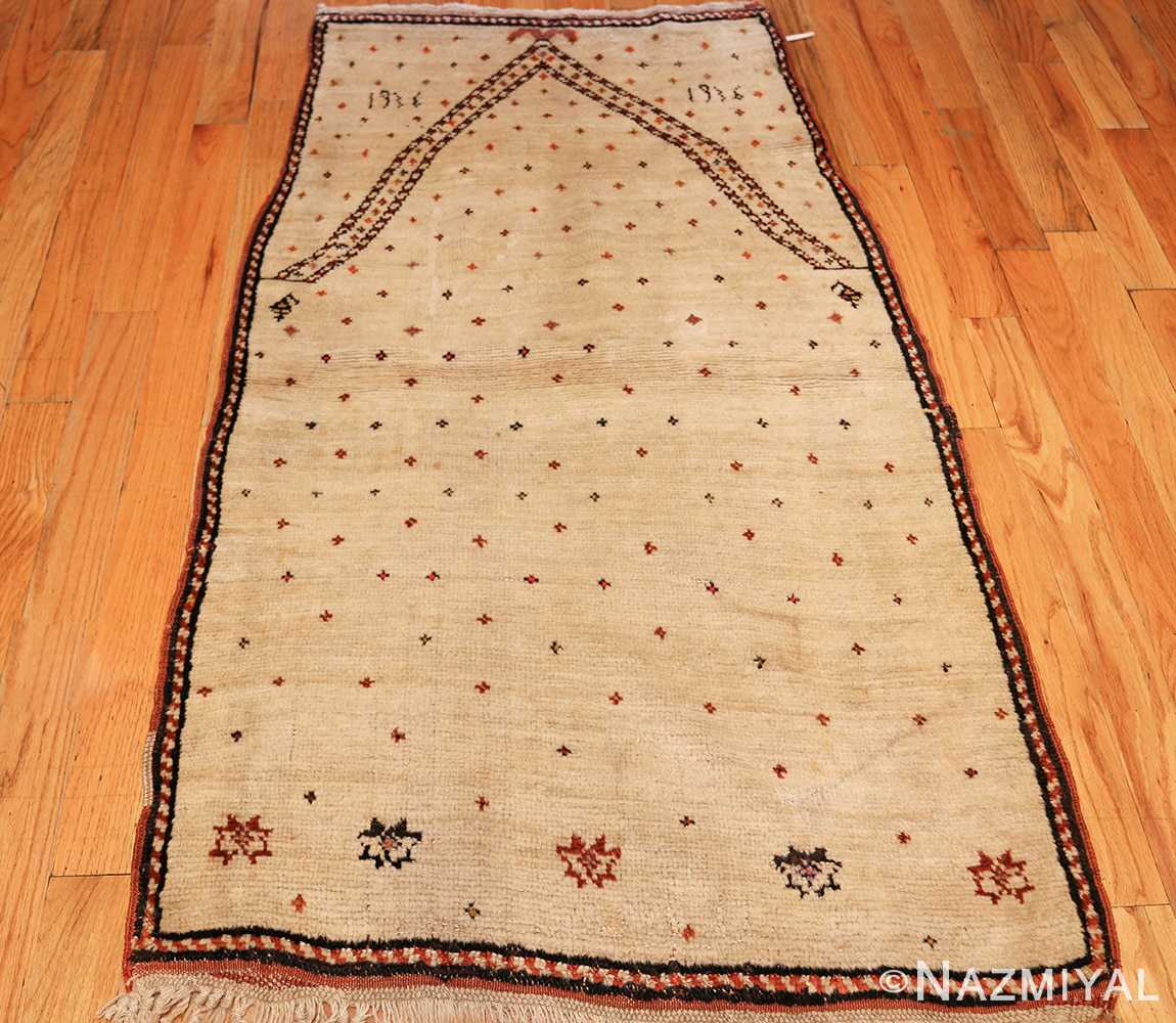 antique tribal persian gabbeh rug 49102 full Nazmiyal
