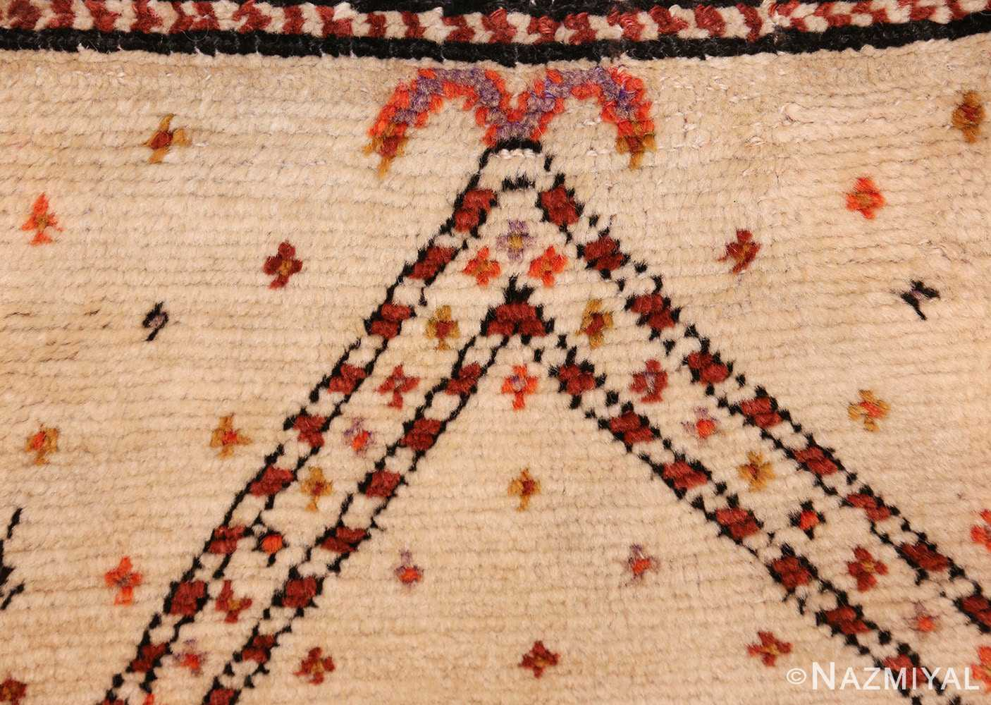 antique tribal persian gabbeh rug 49102 prayer Nazmiyal