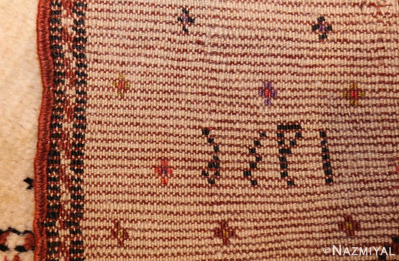 antique tribal persian gabbeh rug 49102 weave Nazmiyal
