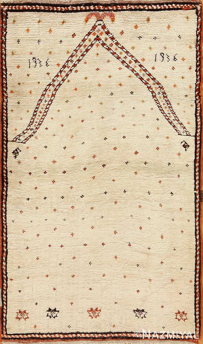 antique tribal persian gabbeh rug 49102 Nazmiyal
