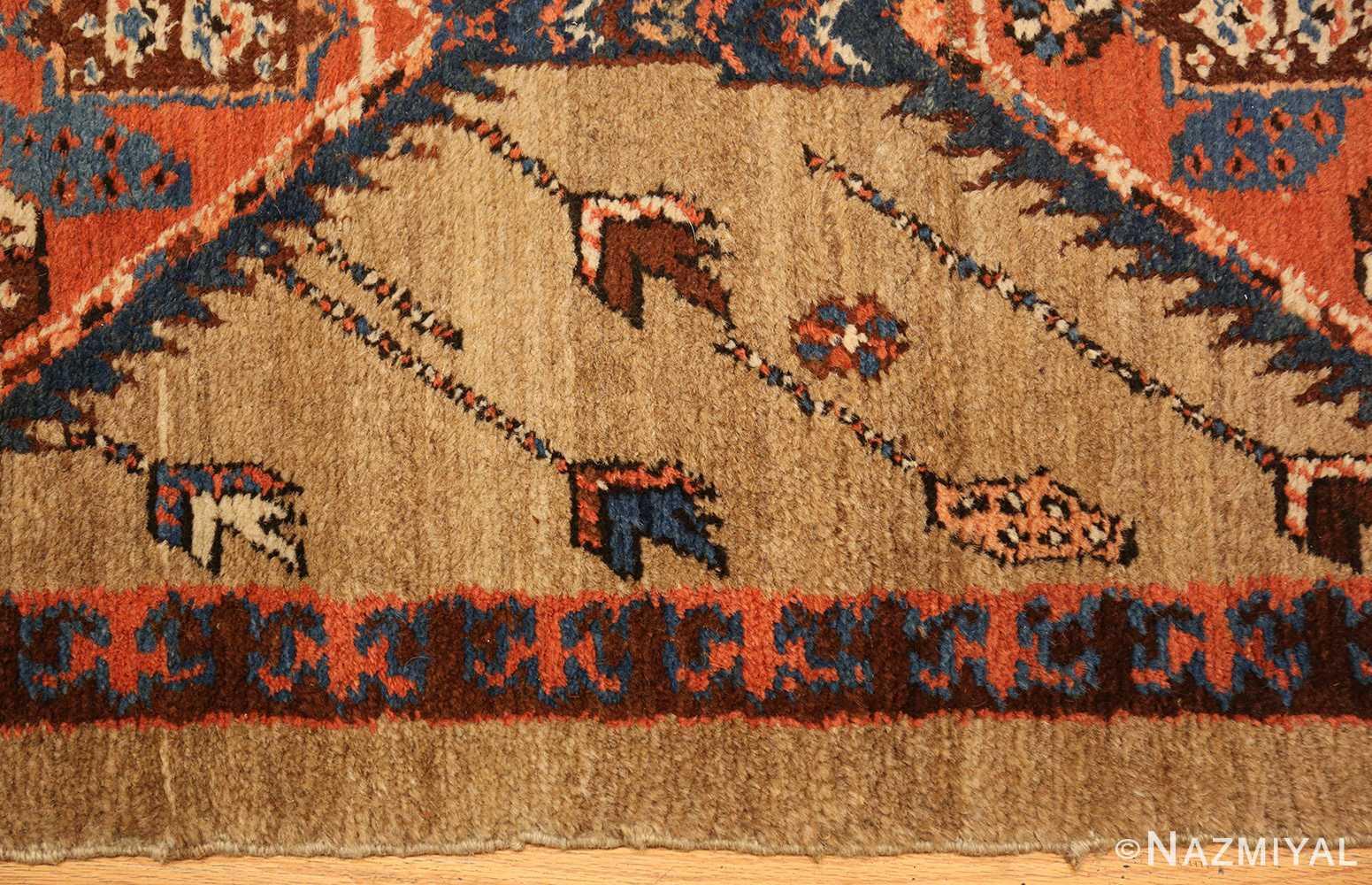 camel hair antique bakshaish runner rug 49277 border Nazmiyal