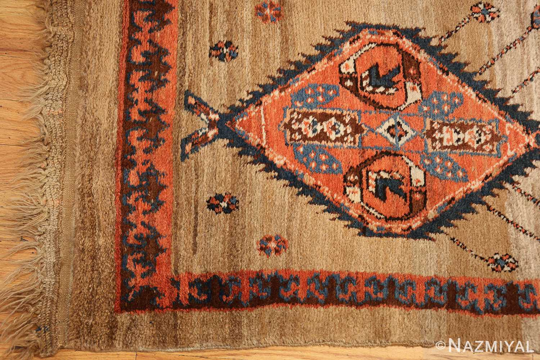 camel hair antique bakshaish runner rug 49277 corner Nazmiyal