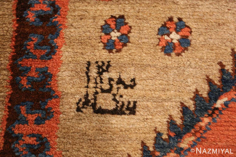 camel hair antique bakshaish runner rug 49277 date Nazmiyal