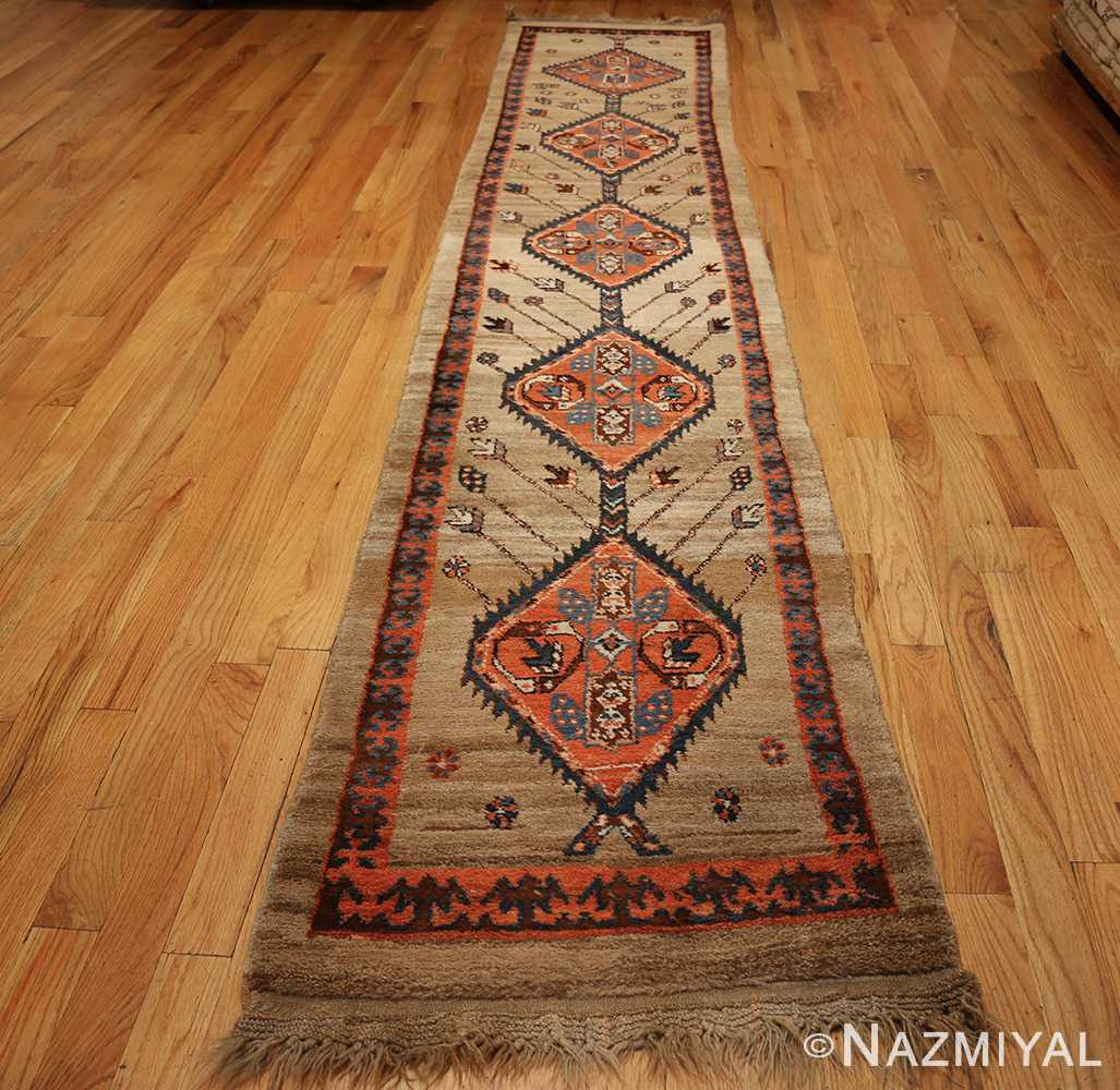 camel hair antique bakshaish runner rug 49277 full Nazmiyal