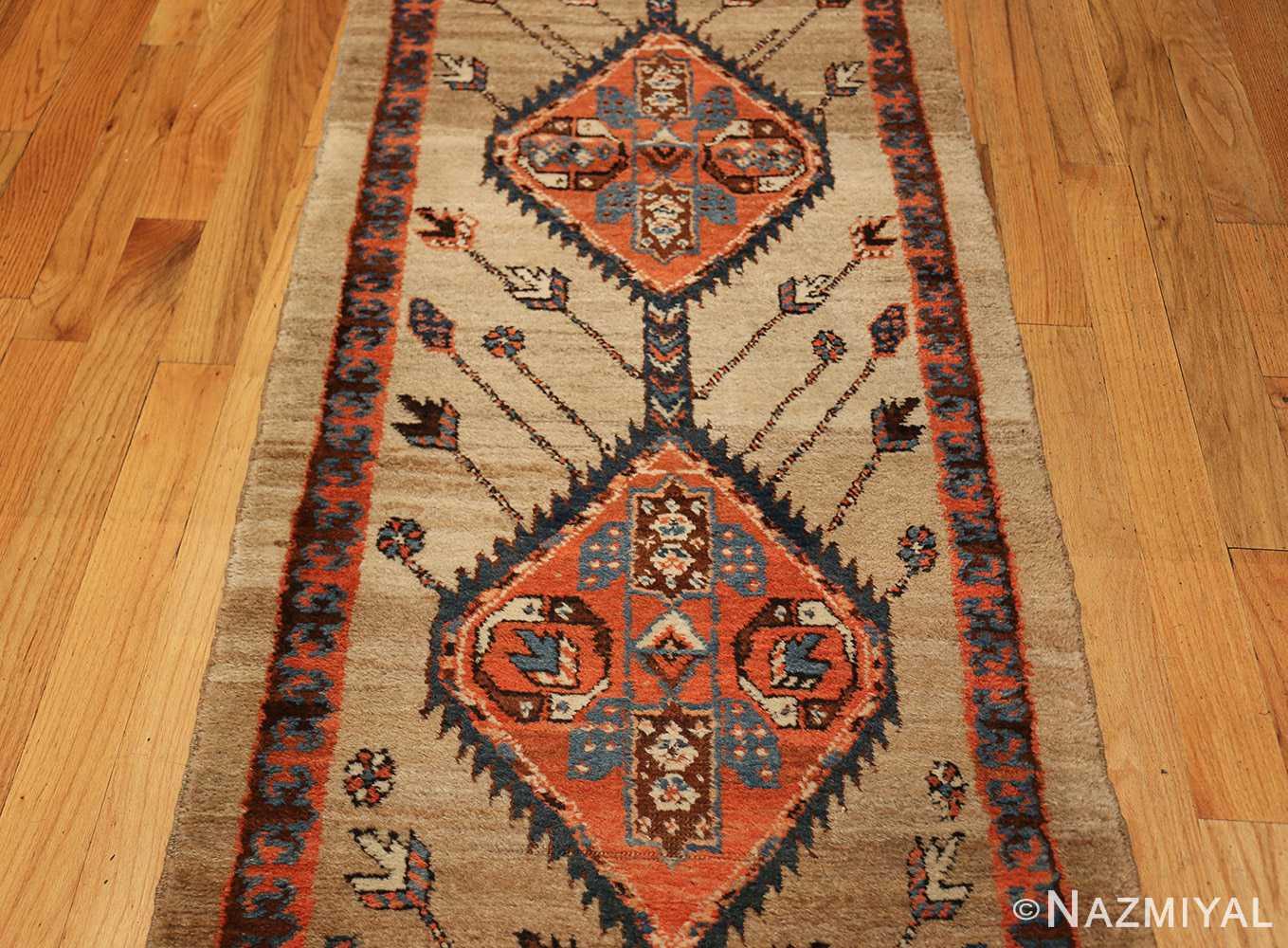 camel hair antique bakshaish runner rug 49277 medallions Nazmiyal