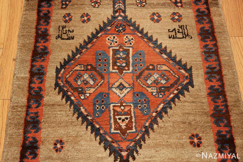 camel hair antique bakshaish runner rug 49277 signs Nazmiyal