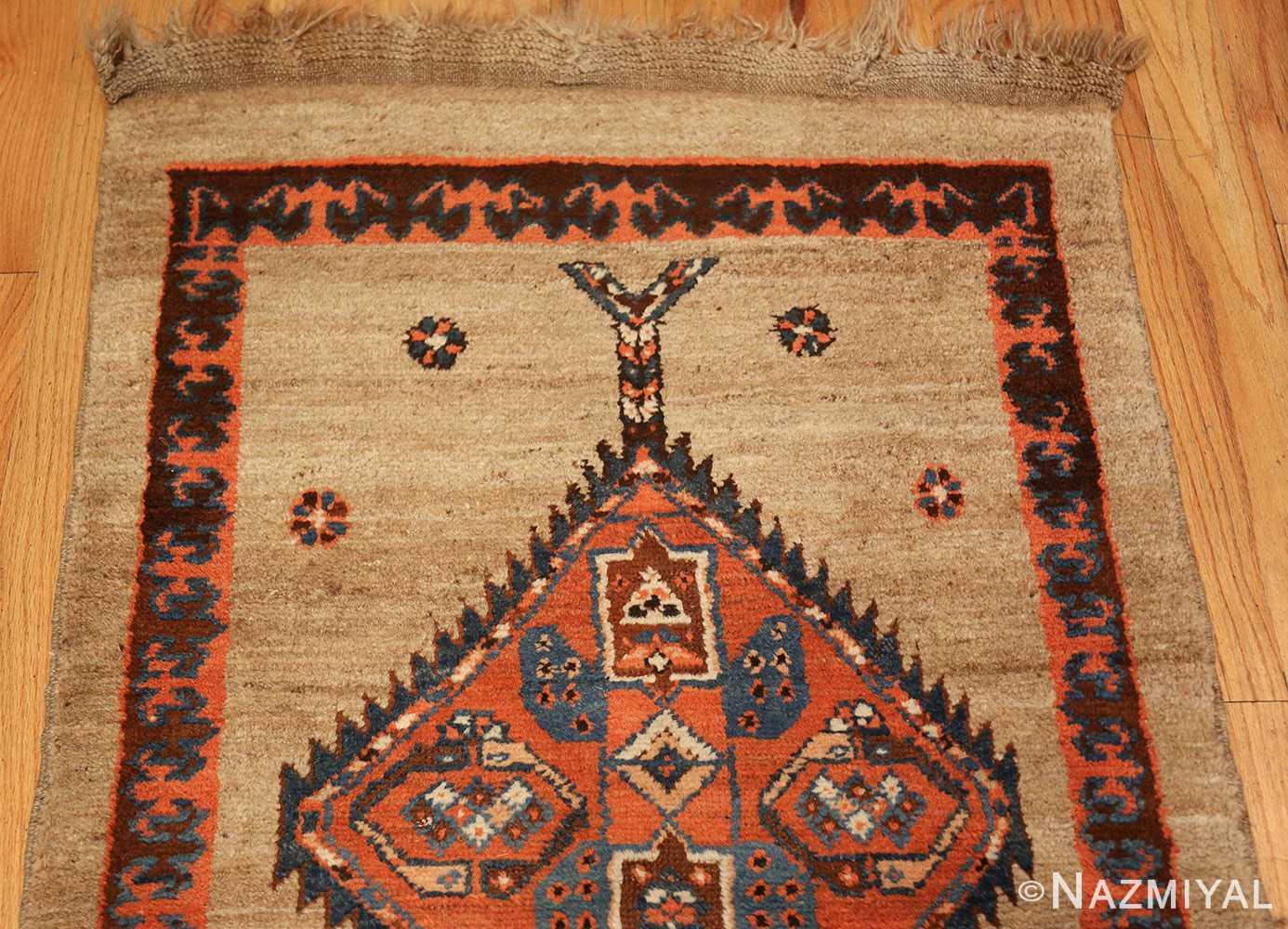 camel hair antique bakshaish runner rug 49277 top Nazmiyal