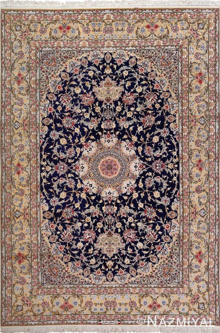 dark background vintage isfahan rug 51115 Nazmiyal