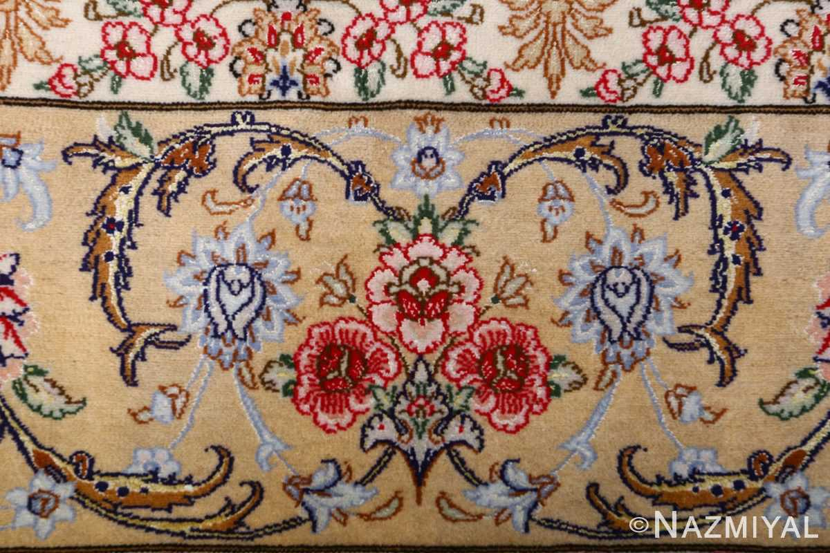 dark background vintage isfahan rug 51115 bouquet Nazmiyal